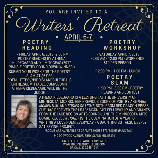 WRITERS RETREAT AND PRAIRIE POETRY SLAM