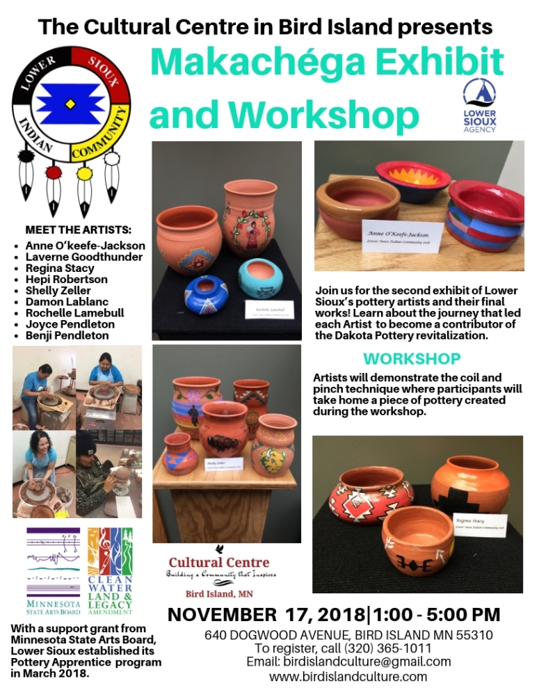 Makachéga Exhibition and Workshop -Flyer